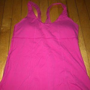 Lululemon bright pink tank